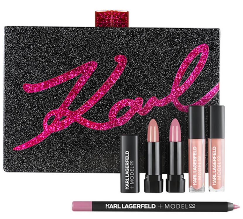 Косметичка с набором средств для макияжа губ, ModelCo + Karl Lagerfeld, €165