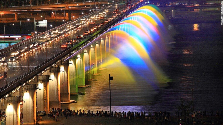 Мост-фонтан Банпо, Сеул, Южная Корея