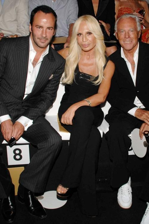 С Донателлой Версаче и Джорджио Армани, 2007 год