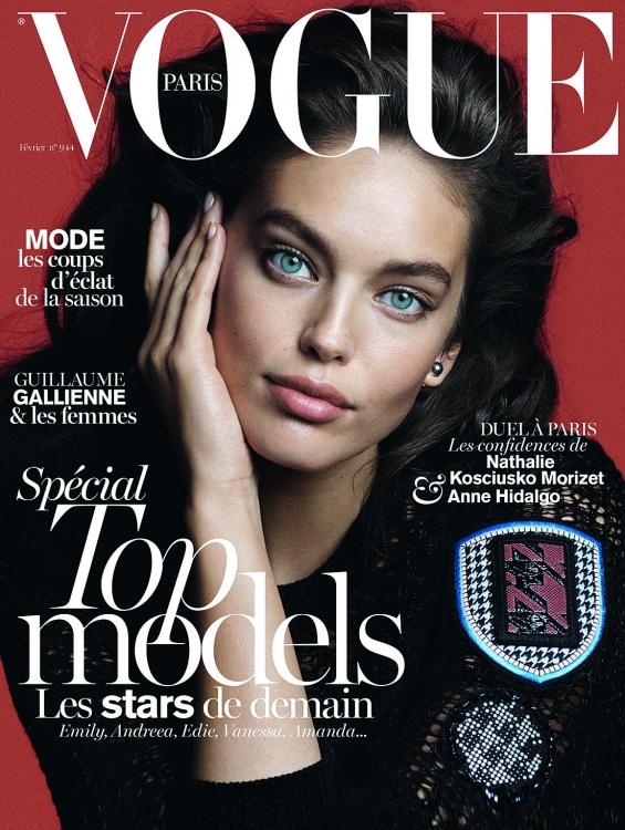 Обложка Vogue Paris, фотограф: Дэвид Симс, февраль 2014