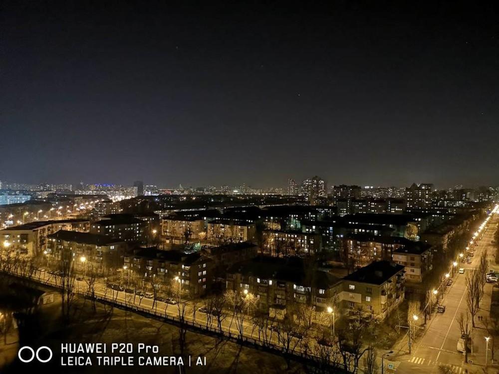 Нічна зйомка на Huawei P20Pro