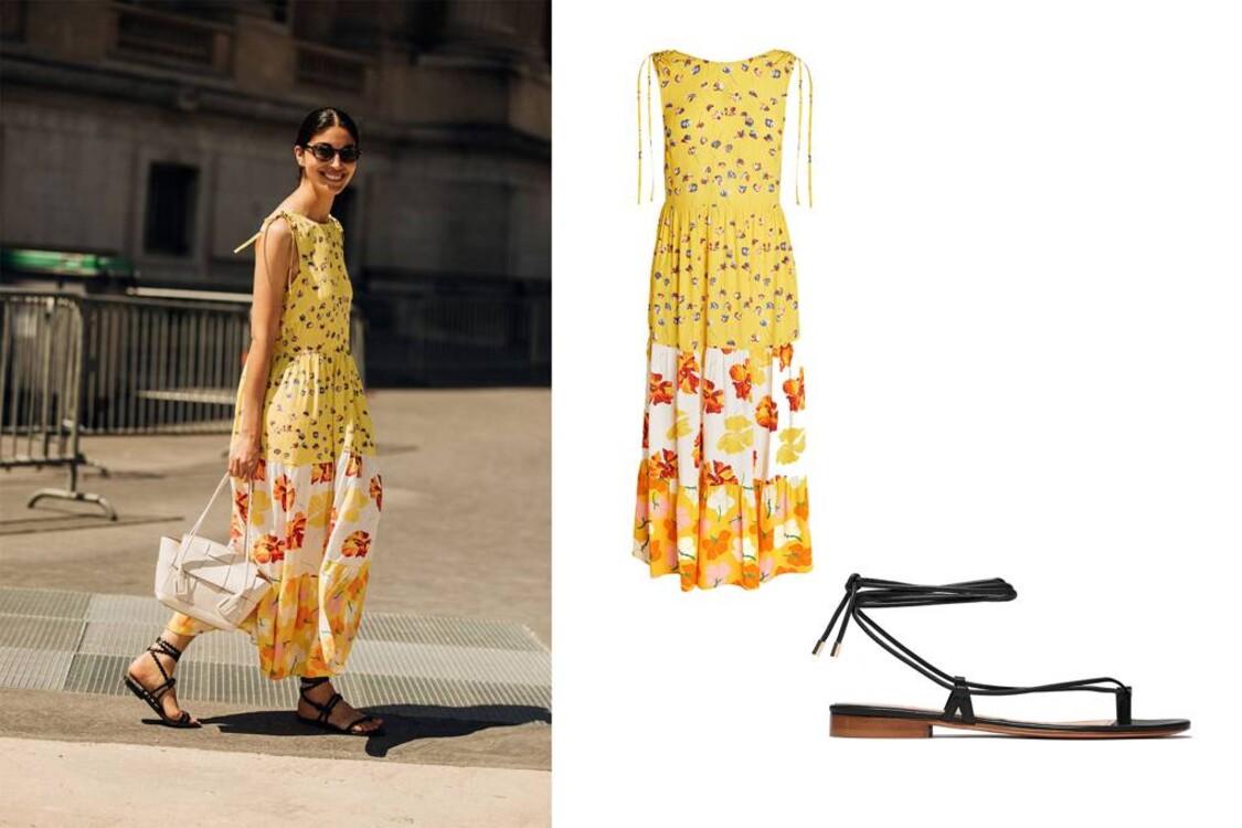 Платье Next, сандалии Alvaro