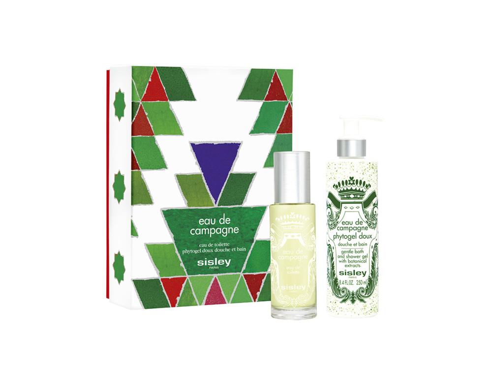 Рождественский набор Eau de Campagne, туалетная вода и гель для душа с растительными экстрактами, все – Sisley
