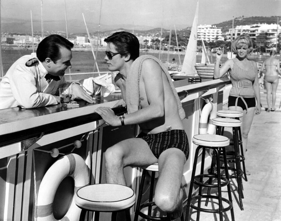 Анри Верней и Ален Делон в 1963 году