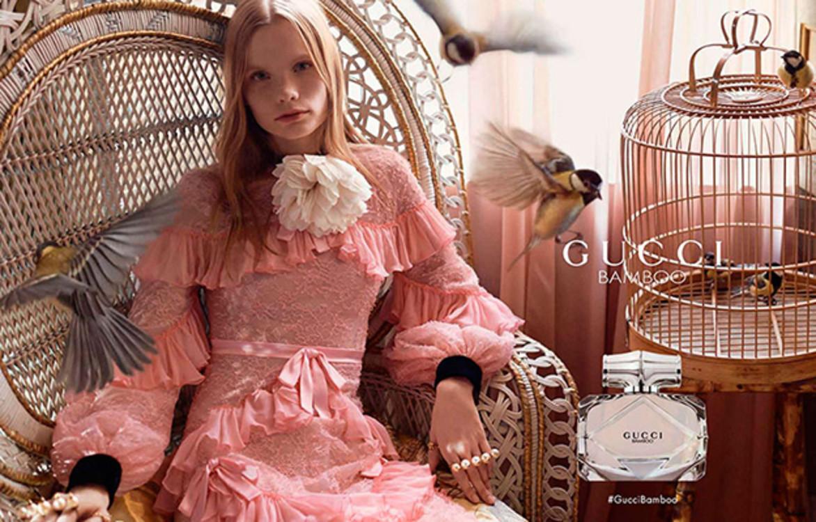 Полина Оганичева в рекламной кампании Gucci Bamboo