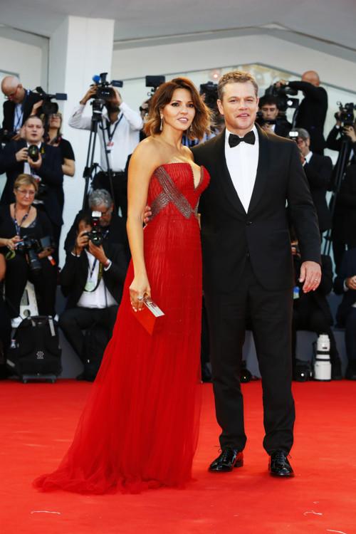 Мэтт Дэймон с женой Лучаной