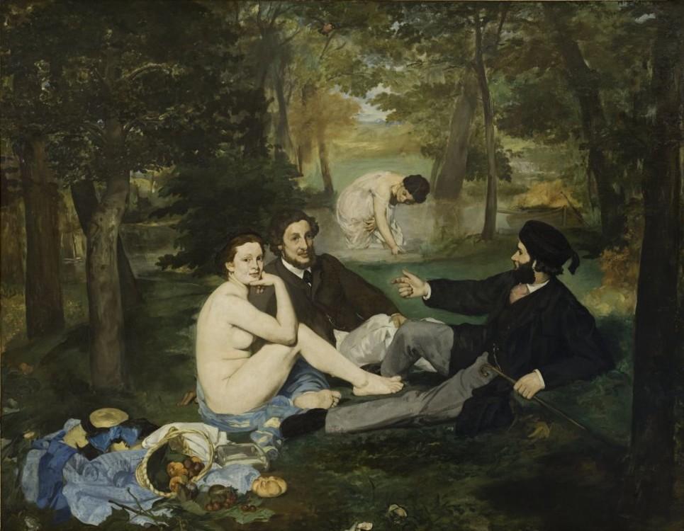 «Сніданок на траві», 1863 (Музей Орсе, Париж)