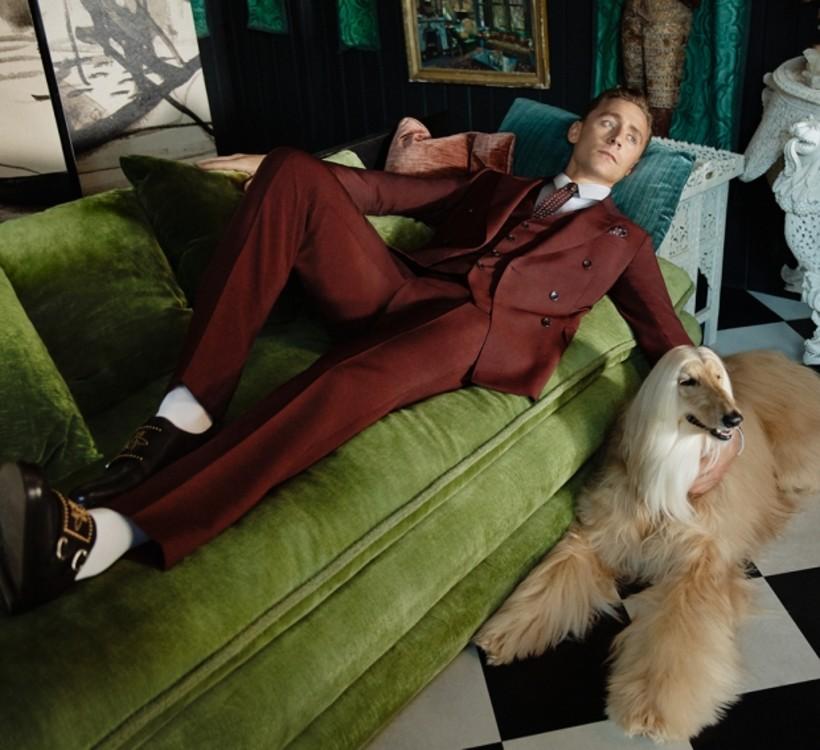 Том Хиддлстон в рекламе Gucci