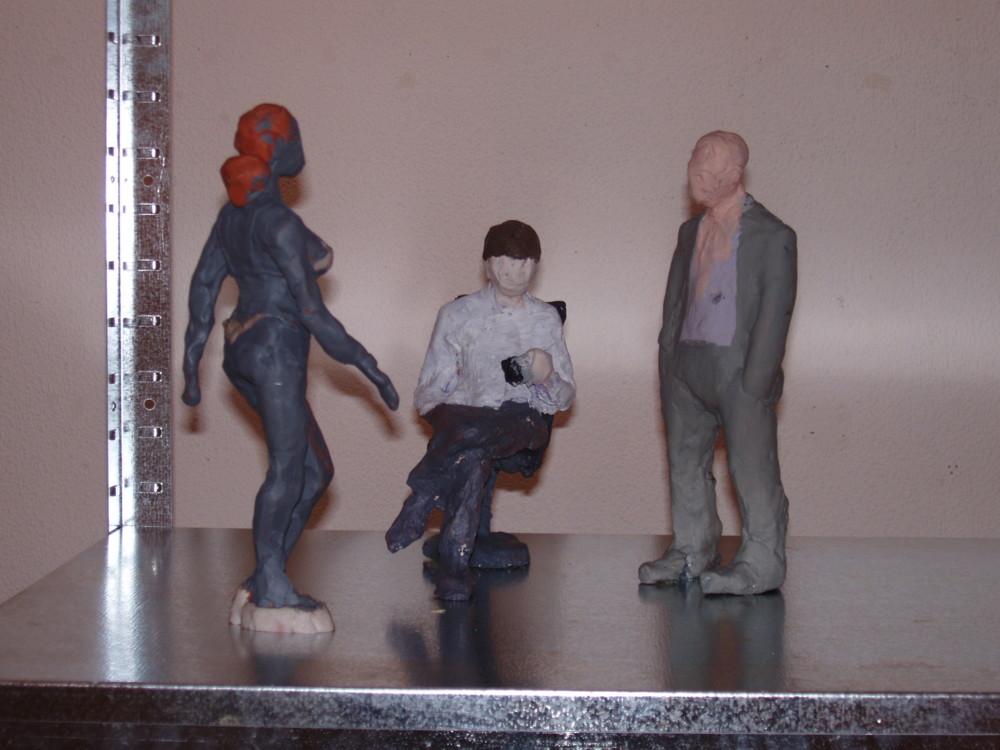 """Максим Мамсиков, 2004, фрагмент из инсталляции """"Даунтаун, или Шелф Плаза"""""""