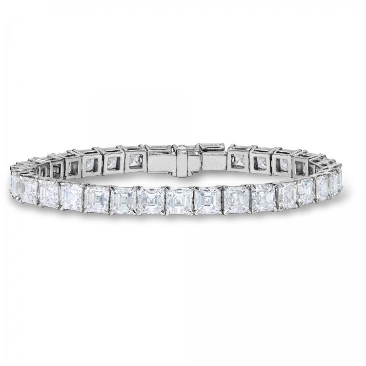 Браслет Tiffany T, белое золото, бриллианты, TIFFAnY & co.