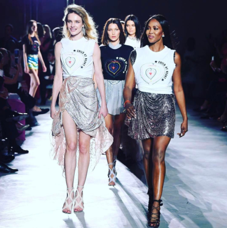 Наталья Водянова, Наоми Кэмпбелл на показе Fashion for Relief