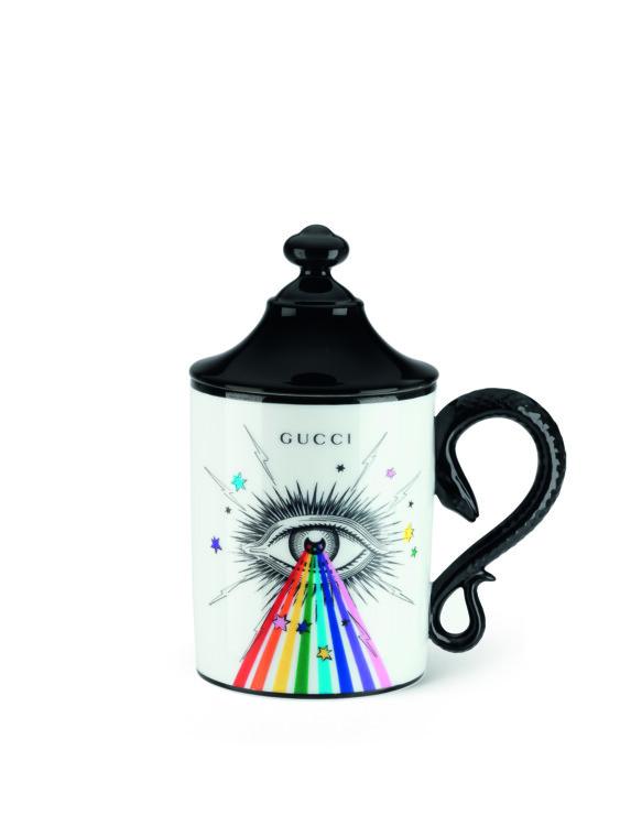 Чашка с крышкой из новой коллекции Gucci Décor