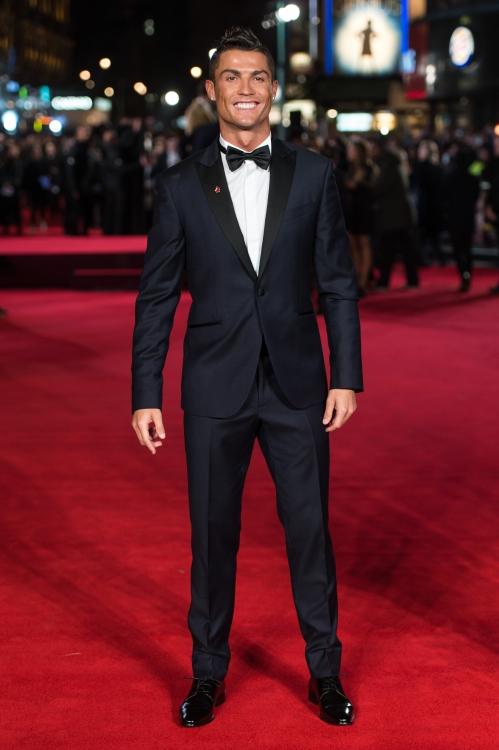 """Криштиану Роналду на мировой премьере фильма """"Роналду"""" в Лондоне, 2015 год"""