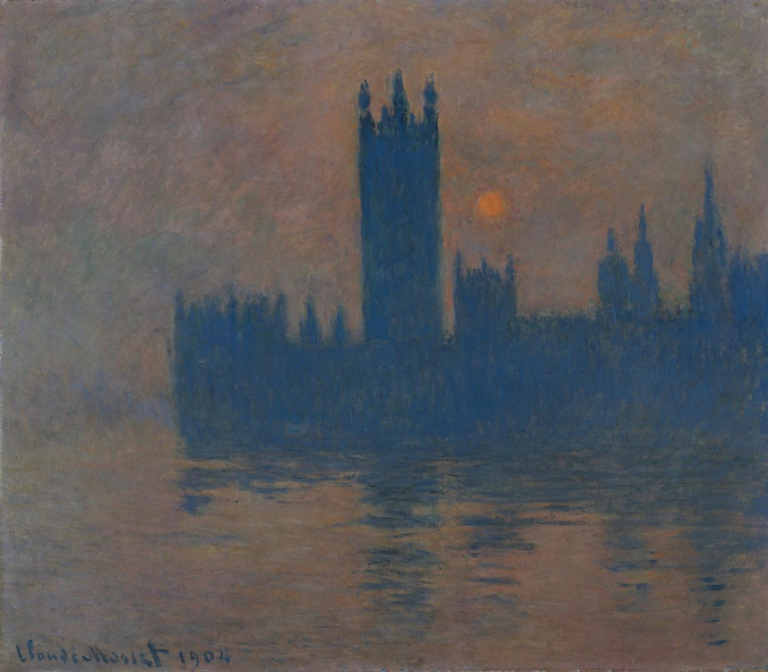 «Будівля парламенту в Лондоні. Захід», 1904