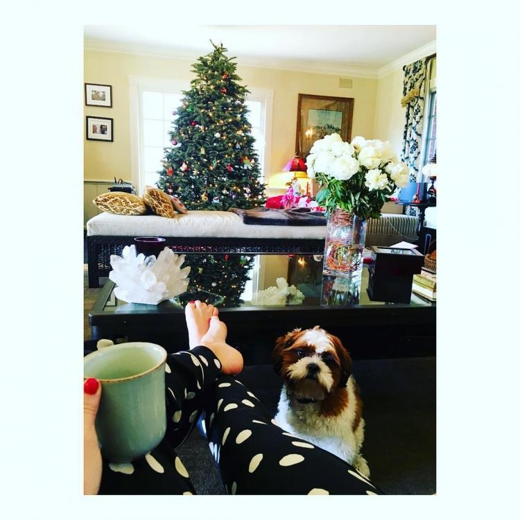 """""""Волли и я убиваем воскресное утро"""", – пишет в своем инстаграме  накануне Рождества Кейт Хадсон"""