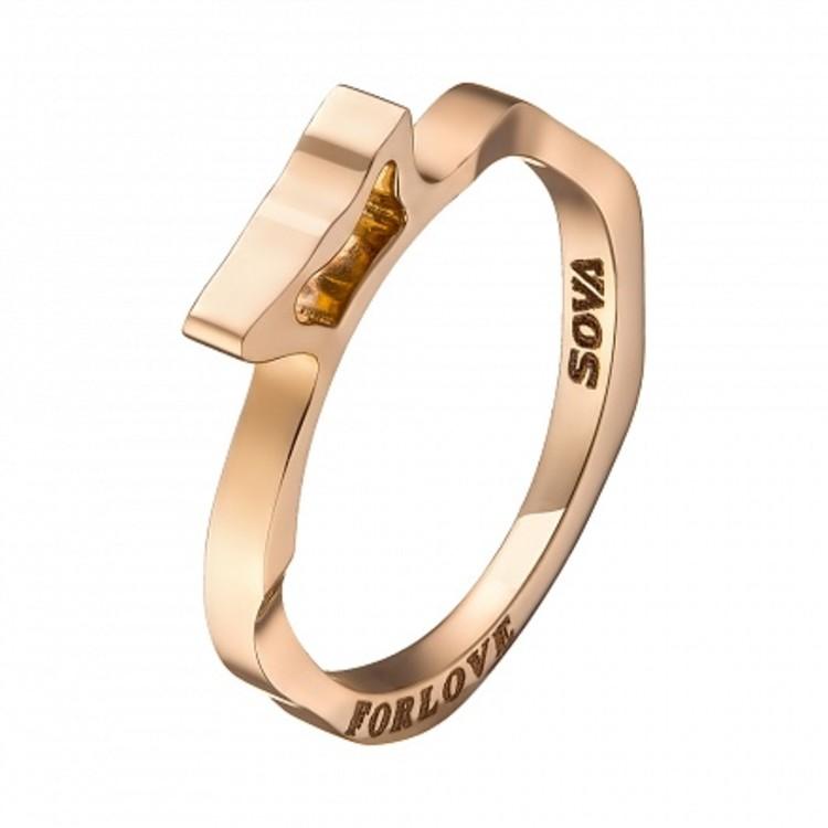 Кольцо из желтого золота For Love