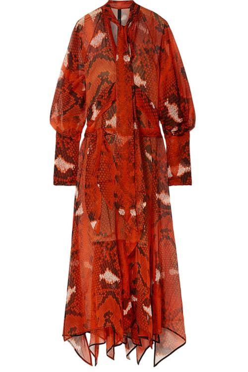 Платье из шелкового шифона, Petar Retrov