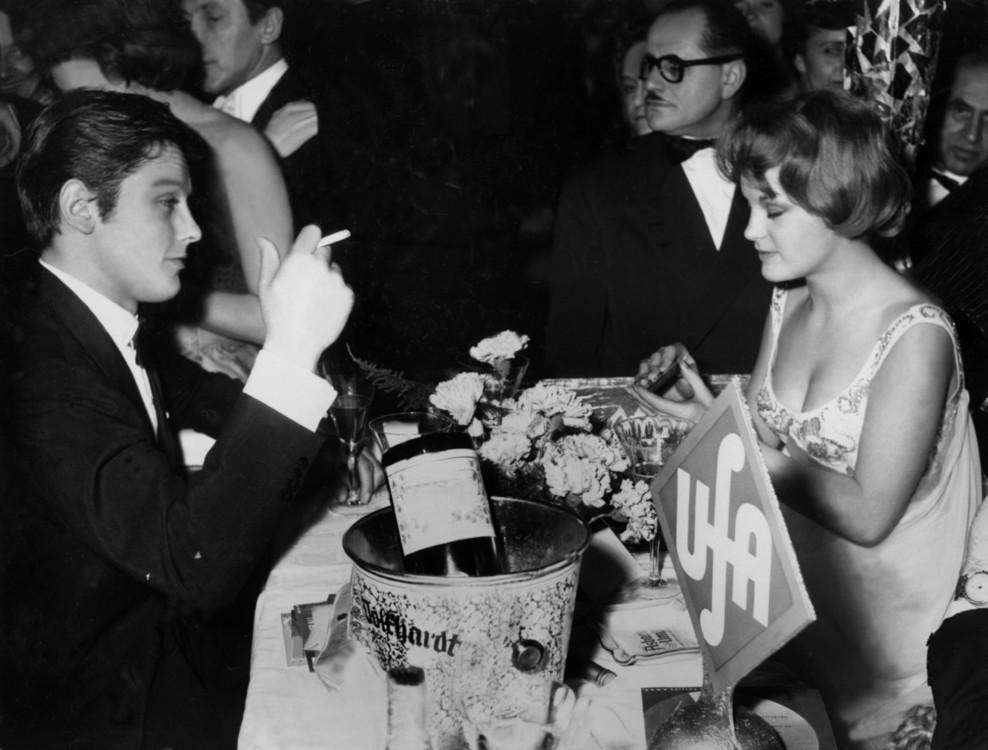 Ален Делон и Роми Шнайдер в Мюнхене, 1959 год