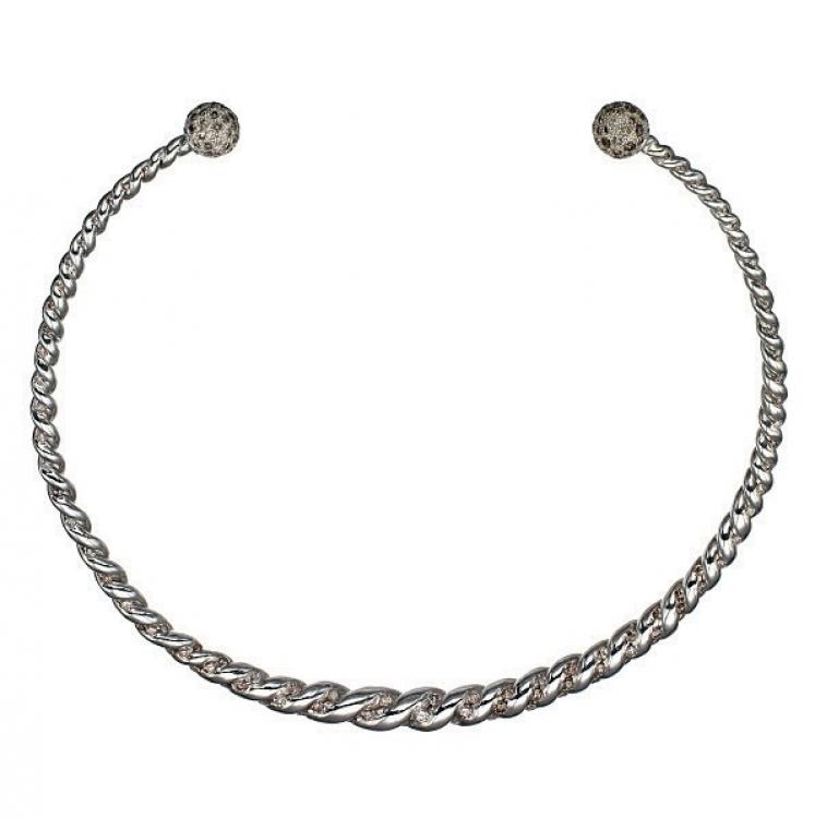 Колье, серебро, бриллианты, Sylvie Corbelin