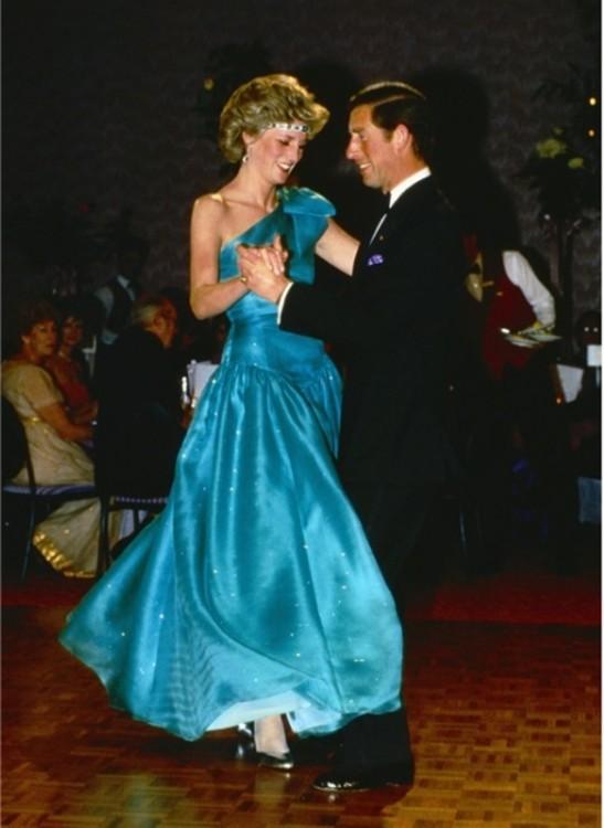 С принцем Чарльзом, 1980 год.