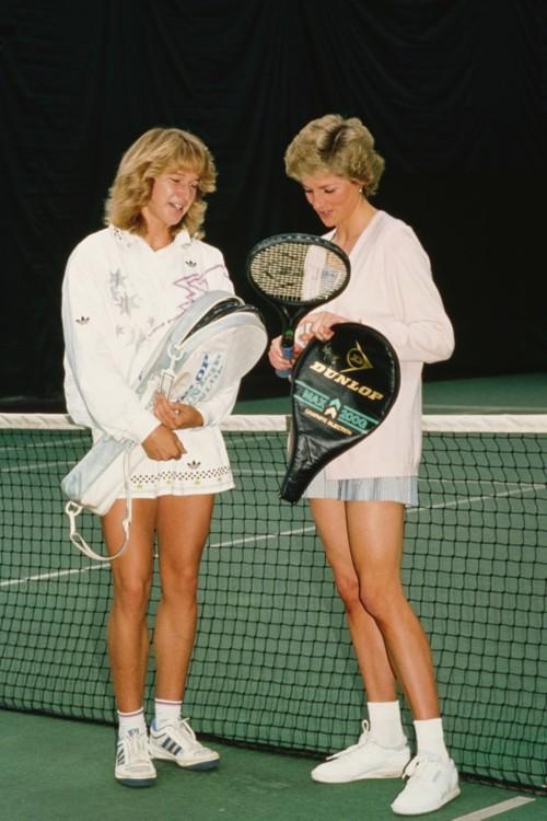 Принцесса Диана и Штеффи Граф в Racquet Club Vanderbilt в Лондоне, 1988 год