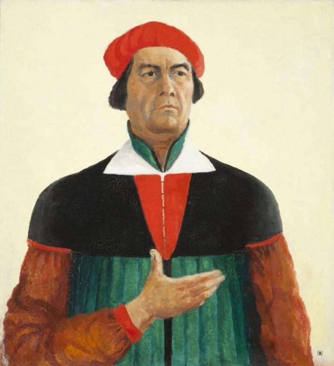 «Автопортрет», 1933 (Государственный Русский музей, Санкт-Петербург)