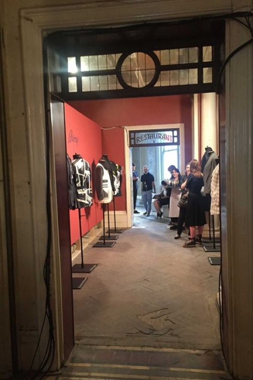 The Brioni installation at the abandoned hotel that the RCA used for its fashion degree show