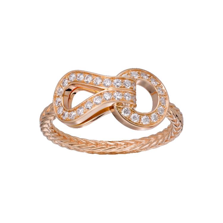 Кольцо Agrafe, розовое золото, бриллианты