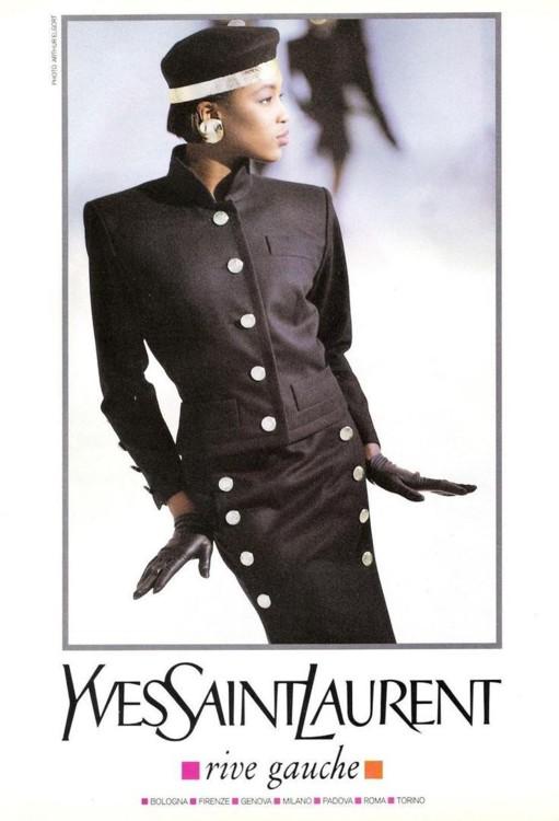 Рекламная кампания Yves Saint Laurent Rive Gauche, 1987 год, фото: Артур Элгорт