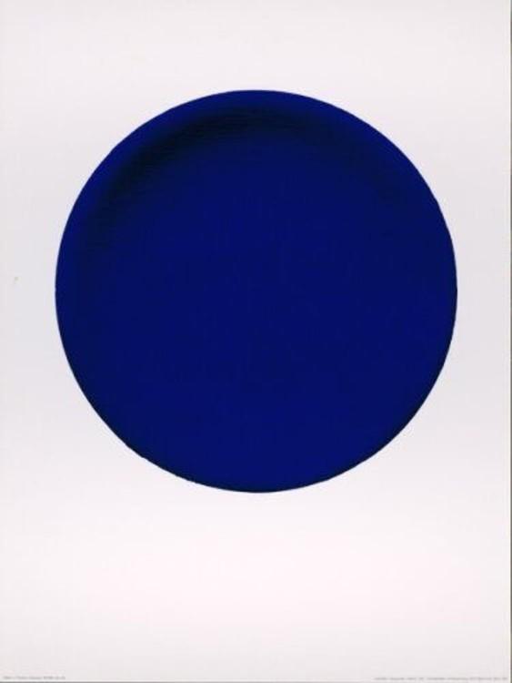 """Ив Кляйн, """"Синий круг"""", 1957"""