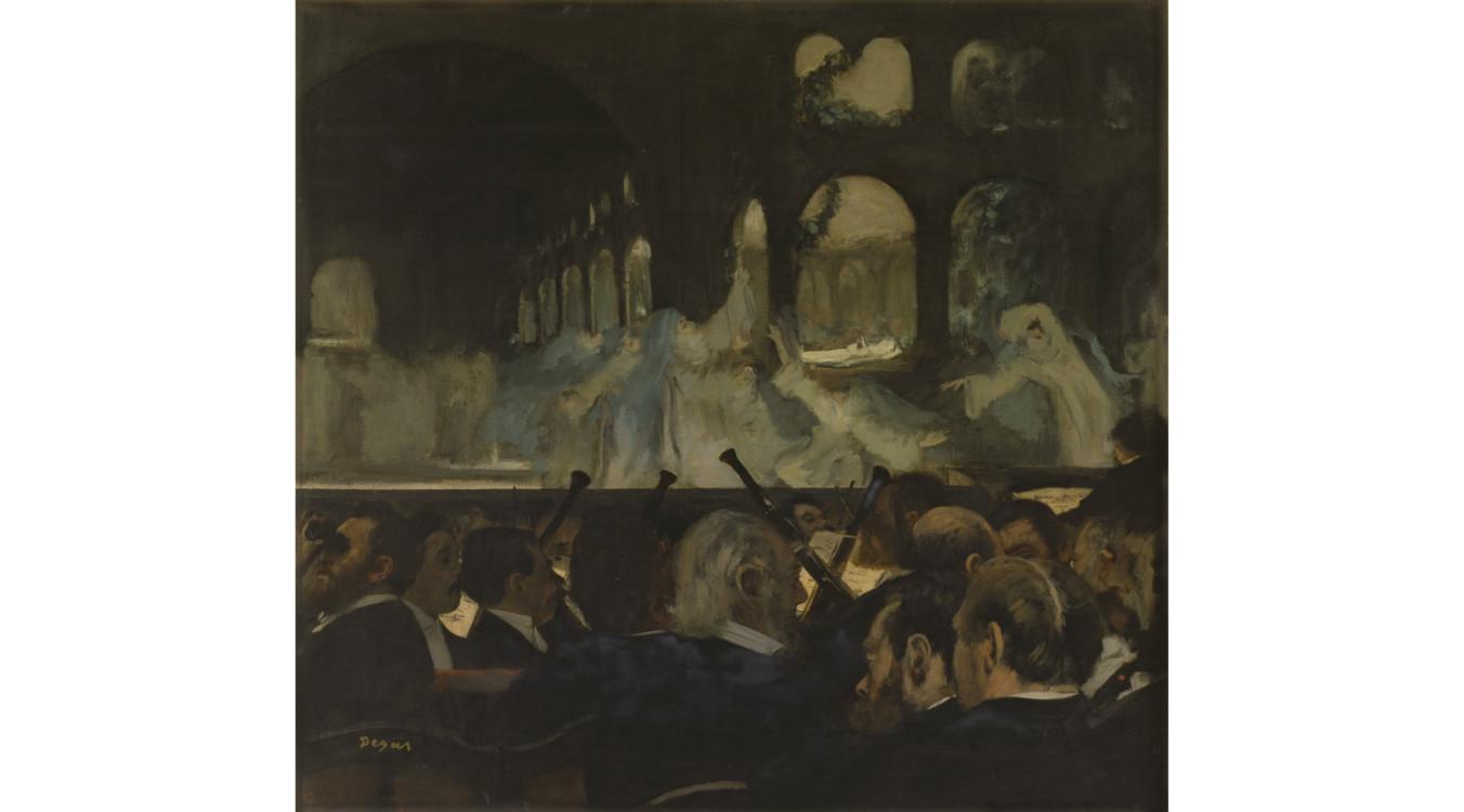 Балетная сцена из оперы Джакомо Мейербера, картина Эдгара Дега, 1876 год