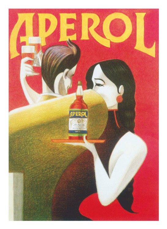 Серия картин Лоренцо Маттотти, посвященная Aperol
