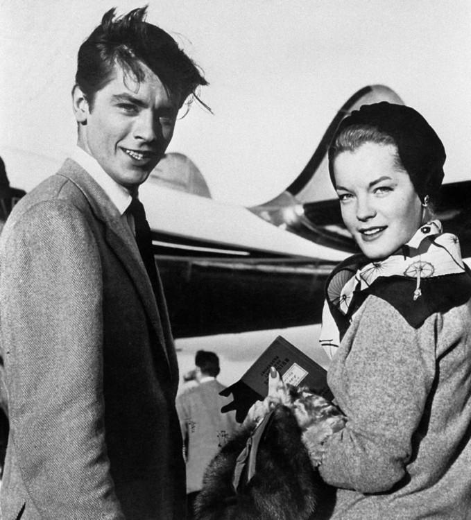 Ален Делон і Ромі Шнайдер, 1959 рік