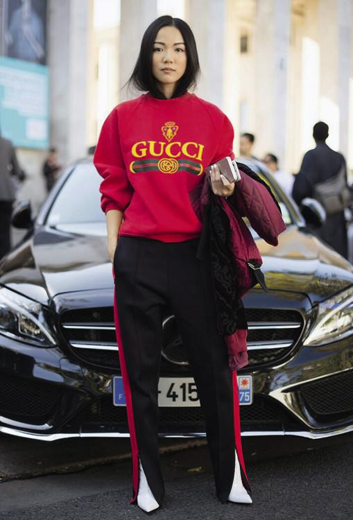 Гостья Недели моды в Париже