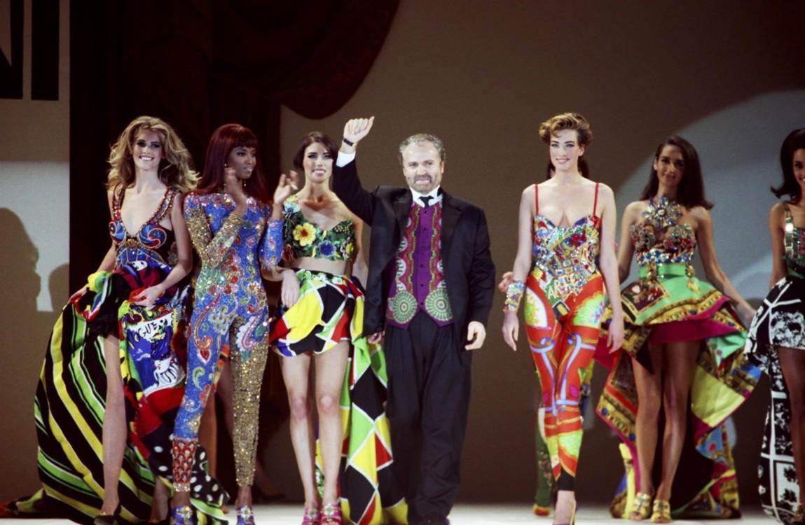 Джанни Версаче и его модели в Лос-Анджелесе, 1991