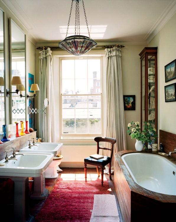Деревянная ванная в лондонской обители Изабеллы и Колина Каудор.