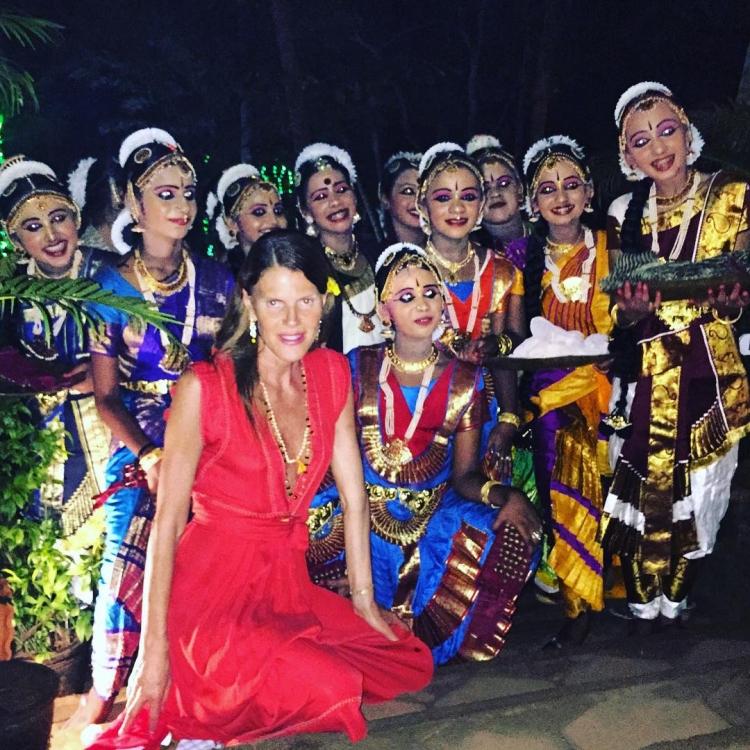 Анна Делло Руссо на аюрведическом курорте Соматирам в Индии