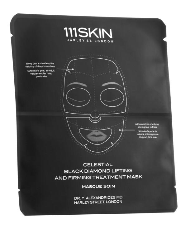Набір масок для обличчя, шиї і декольте Celestial Black Diamond Lifting And Firming Mask, 111Skin