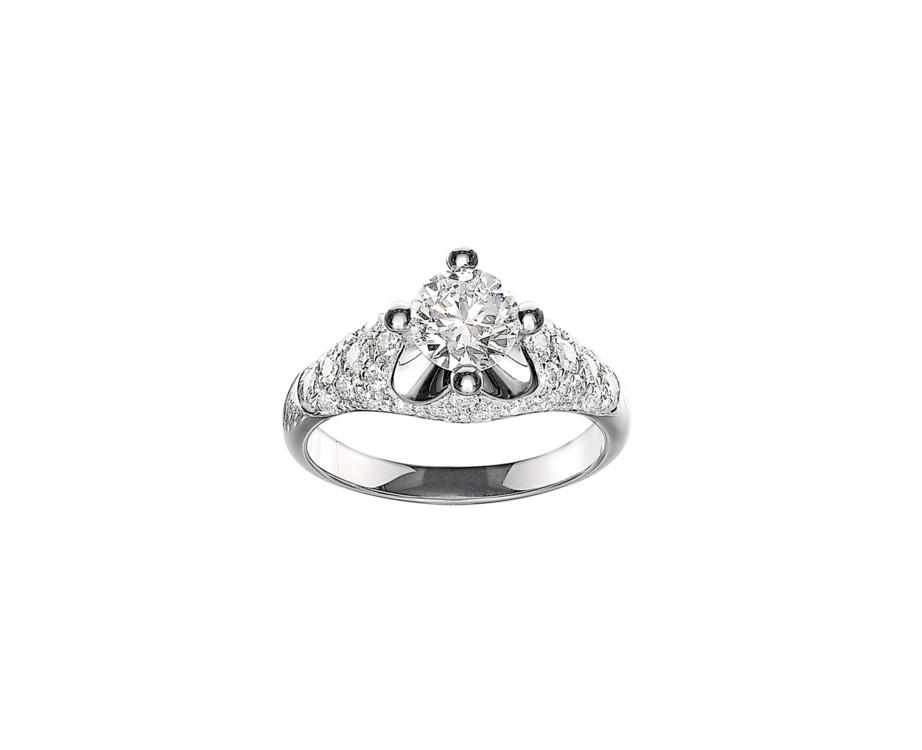 Кольцо Corona, Bugari, платина и бриллианты