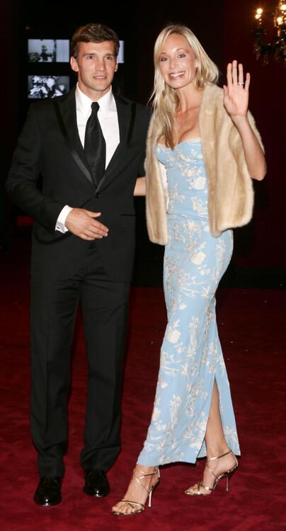 Андрей Шевченко с супругой Кристен Пазик прибыли на празднование 20-летия Dolce&Gabbana, 2005