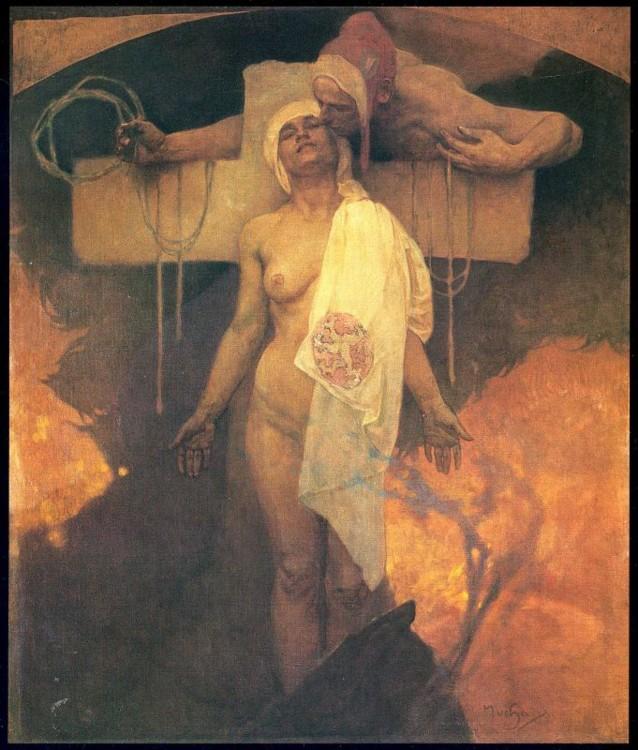 «Франция обнимает Богемию», 1918 (Фонд А. Мухи, Прага)