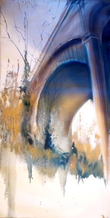 1993, Мост, холст, масло. Работа создана в Великобритании.