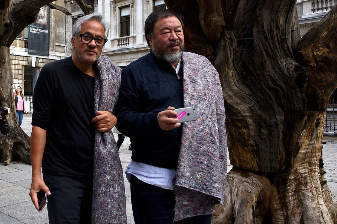 Ай Вэйвэй и Аниш Капур в Лондоне. Фото: Getty images