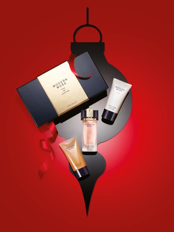 Рождественский набор Modern Muse: гель для душа, парфюмированная вода и лосьон для тела, все - Estēe Lauder