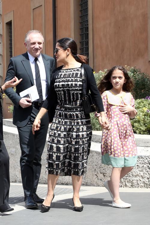 Франсуа-Анри Пино, Сальма Хайек с дочерью Валентиной