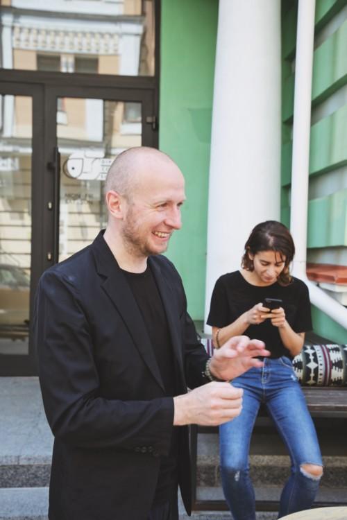 Евгений Березницкий и пиар-директор фестиваля Алиса Маллен