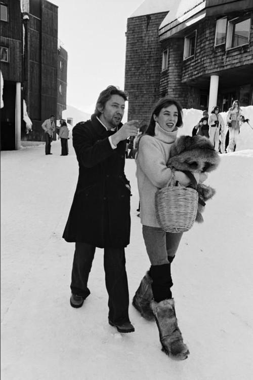 Серж Генсбур и Джейн Биркин в Аворья, 1976 год