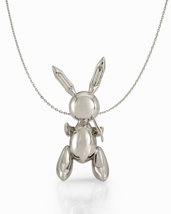 Ожерелье с подвеской Rabbit Pendant Necklace, платина, 2005-2009, Джефф Кунс, выпущен в сотрудничестве со Стеллой Маккартни в количестве 50 штук
