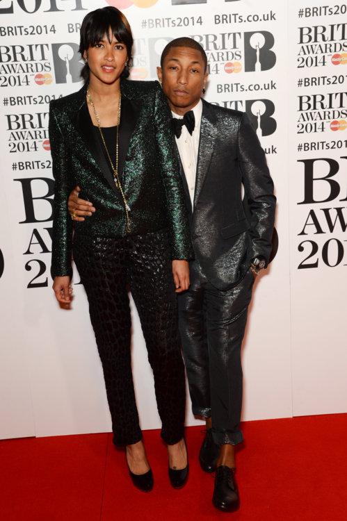 На церемонии BRIT Awards 2014