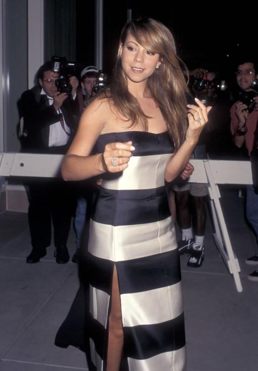 Мэрайя Кэри на открытии бутика Giorgio Armani в Нью-Йорке, 1996
